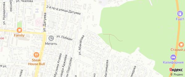 19-я улица на карте поселка Ветеранова с номерами домов