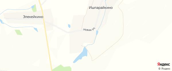 Карта деревни Ишпарайкино в Чувашии с улицами и номерами домов