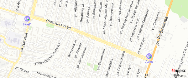 Улица Жадан С.К. на карте Хасавюрта с номерами домов