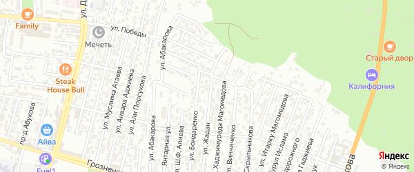 Улица Жадан С.К. на карте Восточного микрорайона с номерами домов