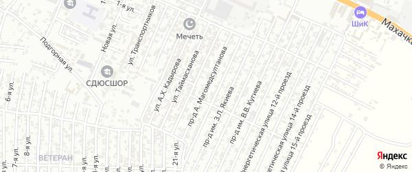 Энергетическая улица 6-й проезд на карте Хасавюрта с номерами домов