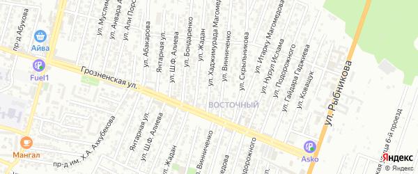 Улица Хаджимурада Магомедова на карте Восточного микрорайона с номерами домов