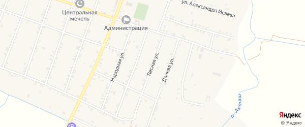 Лесная улица на карте села Бамматюрта с номерами домов