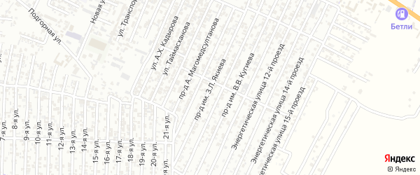 Кандаураульская улица 8-й проезд на карте Хасавюрта с номерами домов