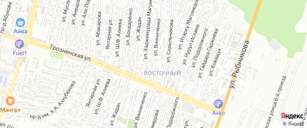Улица Винченко на карте Хасавюрта с номерами домов