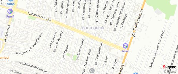 Улица Скрыльникова П.С. на карте Восточного микрорайона с номерами домов