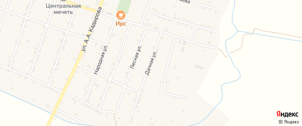 Дачная улица на карте села Бамматюрта с номерами домов