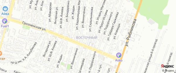 Победы улица 8-й проезд на карте Хасавюрта с номерами домов