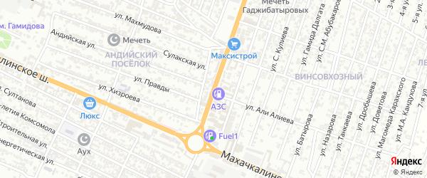 Гумбетовская улица на карте Хасавюрта с номерами домов