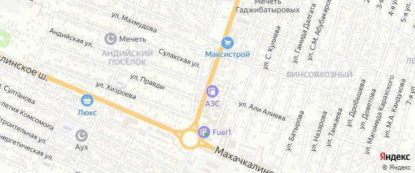 Гумбетовская улица на карте микрорайона Бетли с номерами домов