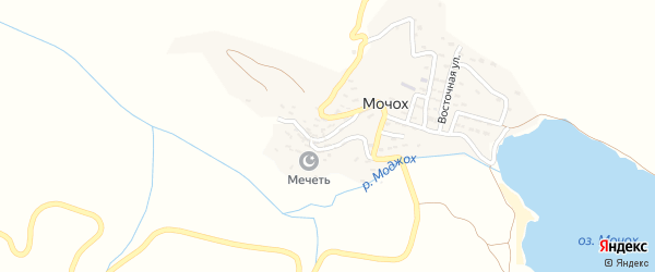 Кавказская улица на карте села Мочоха с номерами домов
