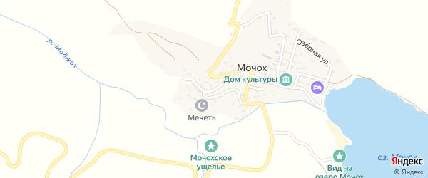 Зеленая улица на карте села Мочоха с номерами домов