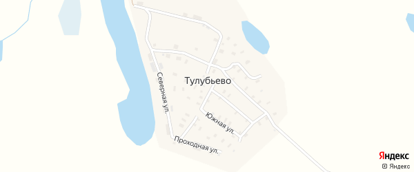 Набережная улица на карте поселка Тулубьево с номерами домов