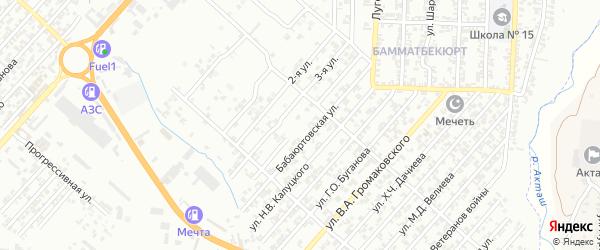 Улица Пирогова А.И. на карте поселка Бамматбекюрта с номерами домов