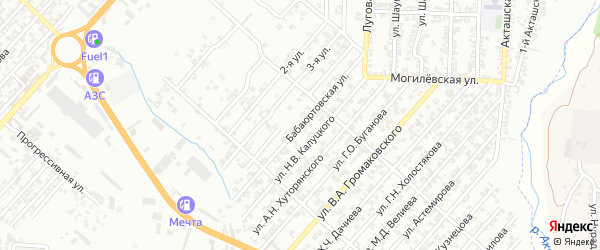 Бабаюртовская улица на карте Хасавюрта с номерами домов
