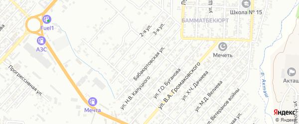 Бабаюртовская улица на карте поселка Бамматбекюрта с номерами домов