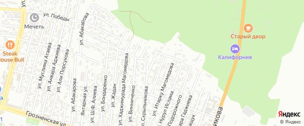 Воинов Интернационалистов улица 2-й проезд на карте Хасавюрта с номерами домов