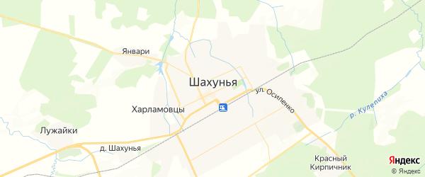 Карта Шахуньи с районами, улицами и номерами домов