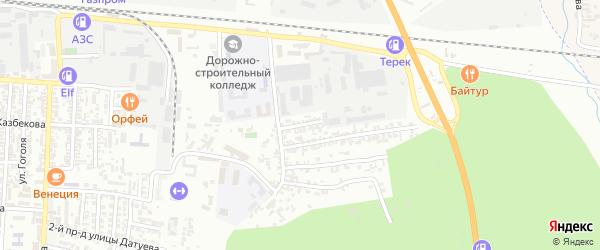Улица Воинов Интернационалистов на карте Хасавюрта с номерами домов