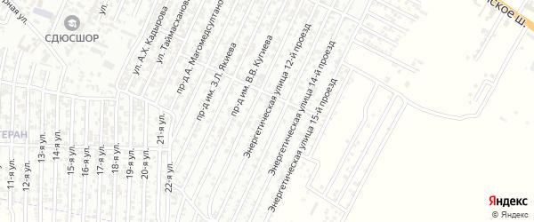 Энергетическая улица 12-й проезд на карте Хасавюрта с номерами домов