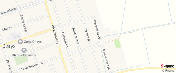 Лесная улица на карте села Сивуха с номерами домов