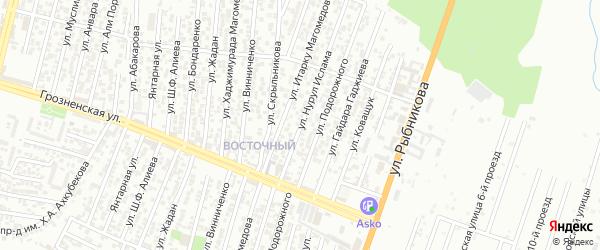 Улица Коваленко П.В. на карте Хасавюрта с номерами домов