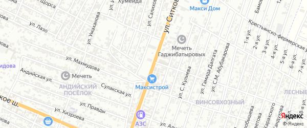 Улица Эмирова на карте Хасавюрта с номерами домов