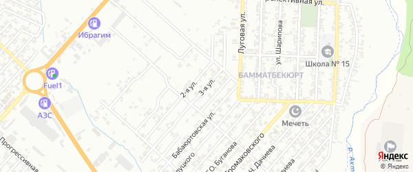 3-я улица на карте поселка Бамматбекюрта с номерами домов