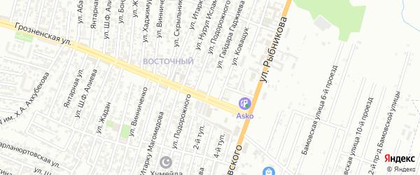 Улица Гаджиева Гайдара на карте Восточного микрорайона с номерами домов