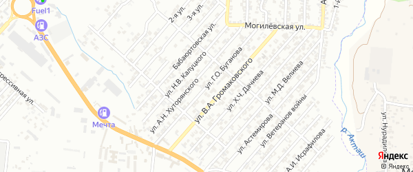 Улица Буганова Г.О. на карте Хасавюрта с номерами домов