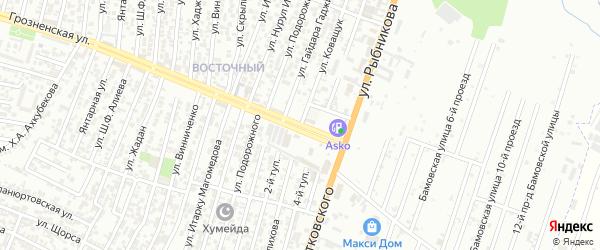Улица Коващук Н.Н. на карте Хасавюрта с номерами домов