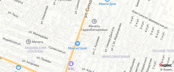 Улица Даниялова на карте Хасавюрта с номерами домов