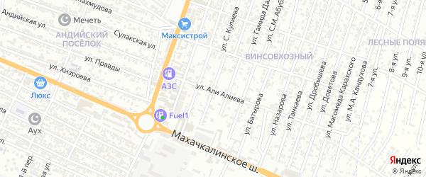 Лазо улица 4-й проезд на карте Хасавюрта с номерами домов