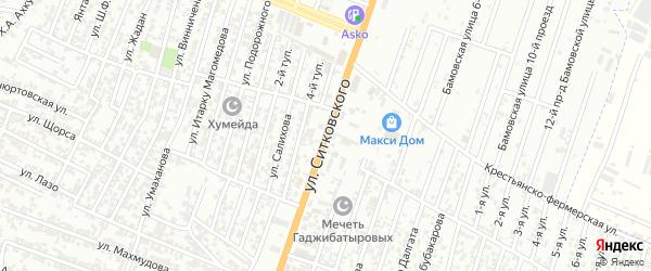 Улица Ситковского А.Н. на карте Восточного микрорайона с номерами домов