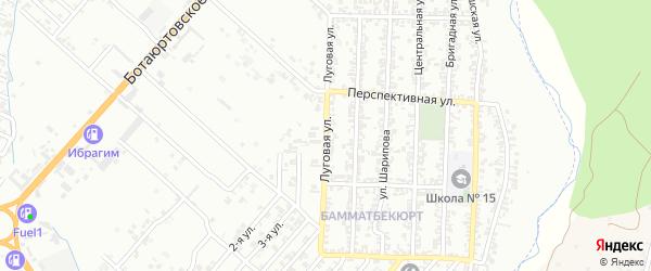 Луговая улица на карте Хасавюрта с номерами домов