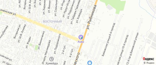 Кандаураульская улица 14-й проезд на карте Хасавюрта с номерами домов