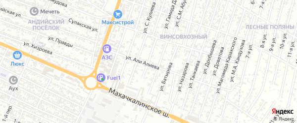 Улица Прижевальского на карте микрорайона Бетли с номерами домов