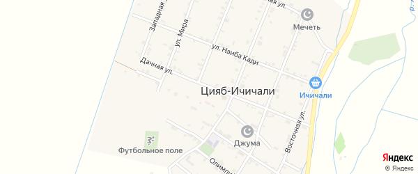 Дачная улица на карте села Цияба Ичичали с номерами домов