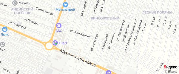 Улица Грибоедова А.С. на карте микрорайона Бетли с номерами домов