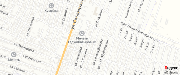 Улица Кулиева С. на карте Хасавюрта с номерами домов