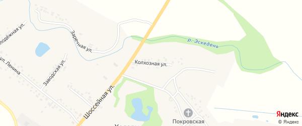 Колхозная улица на карте села Ходары с номерами домов