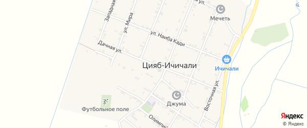 Дачная улица на карте железнодорожной станции Карланюрта с номерами домов