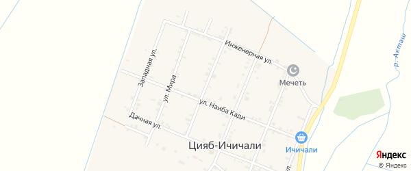 Гвардейская улица на карте села Цияба Ичичали с номерами домов