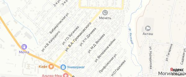 Улица Г.Н.Холостякова на карте поселка Бамматбекюрта с номерами домов