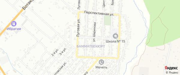 Ботаническая улица на карте Хасавюрта с номерами домов