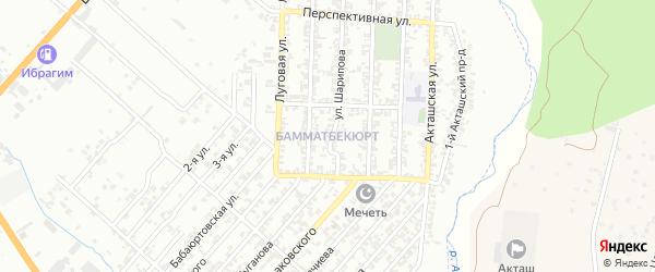 Костековская улица на карте поселка Бамматбекюрта с номерами домов