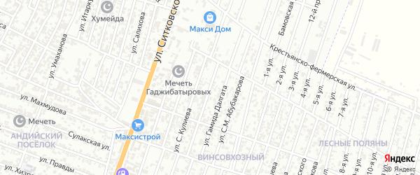 Винсовхозная улица на карте Хасавюрта с номерами домов