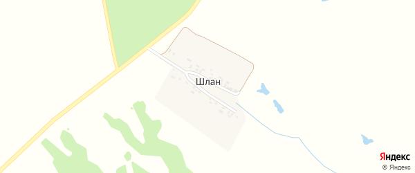 Улица Шиповника на карте выселков Шлана с номерами домов