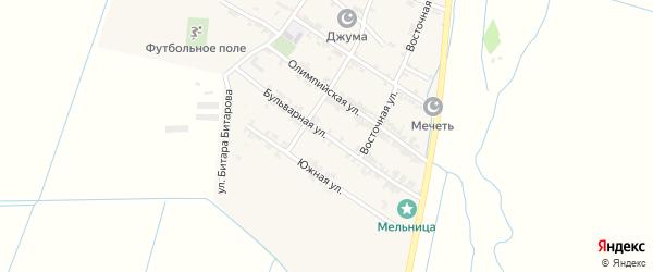 Бульварная улица на карте села Цияба Ичичали с номерами домов