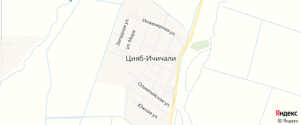 Карта села Цияба Ичичали в Дагестане с улицами и номерами домов